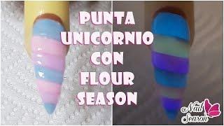 Download Uñas de acrilico punta unicornio efecto glow con flourseason Video