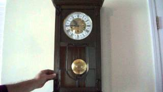 Download Antique Ave Maria/ Westminster Chime Wall Clock Video