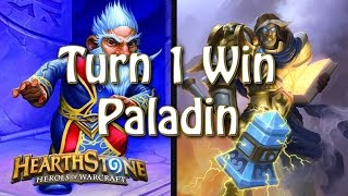 Download Hearthstone - Turn 1 win with Paladin Video