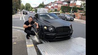 Download DELIVERY OF OUR REAL LIFE CUSTOM BATMAN BENTLEY 😱 Video