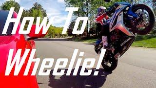 Download How To Do A Wheelie on a StreetBike!: Honda CBR600RR Video