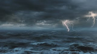 Download ⚡️ Thunderstorm At Sea Sounds For Sleeping, Relaxing ~ Thunder Rain Ocean Sea Lightning Ambience Video