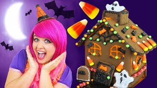 Download Let's Make A Halloween Cookie House! | DIY Halloween Chocolate Cookie House Kit | KiMMi THE CLOWN Video