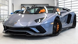Download Delivery of a 2018 Lamborghini Aventador S LP740-4 Roadster in Grigio Oneirus!!! 4K Video