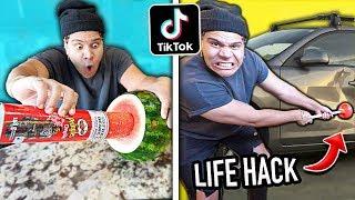 Download We TESTED Viral TikTok Life Hacks... **VERY SHOCKING** (PART 8) Video
