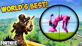 Download WORLDS GREATEST SNIPER SHOT! - Fortnite Funny Fails and WTF Moments! #128 (Daily Moments) Video