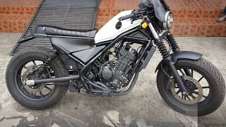 Download Install Honda Rebel CMX 300 - 500 MotoZaaa Custom Scrambler Seat Kit Motorcycle Video