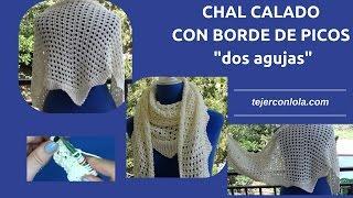 Download CHAL CALADO CON BORDE DE PICOS dos agujas Video