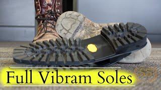 Download Work Boots Full Restoration ** Full Vibram Soles** Video