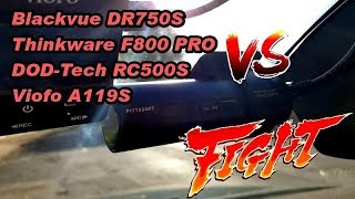 Download Blackvue DR750S vs Thinkware F800 PRO vs DOD RC500S vs Viofo A119S [Extreme test] dashcam review Video
