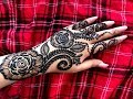 Download How to apply Beautiful gulf arabic khaleeji flower easy henna mehndi design for hands for eid 2019 Video