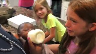Download Daughters Burst Into Tears When Mom Surprises Them with Adopted Baby Sister Video
