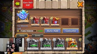 Download JT's Main Consuming Maxed Heroes Losing 15000 MIGHT Castle Clash Video