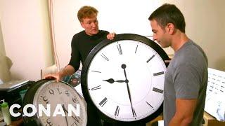 Download Conan Catches Jordan Schlansky Coming In Late Video