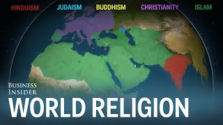 Download Animated map shows how religion spread around the world Video