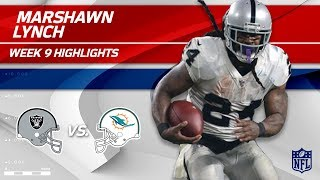 Download Marshawn Lynch's Strong Night w/ 2 TDs vs. Miami! | Raiders vs. Dolphins | Wk 9 Player Highlights Video