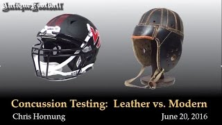 Download Football Helmet Concussion Testing: Leather vs. Modern Video