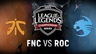 Download FNC vs. ROC - Week 9 Day 1 | EU LCS Summer Split | Fnatic vs. Team Roccat (2018) Video
