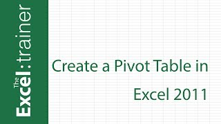 Download Excel for Mac 2011: Creating a Pivot Table Video