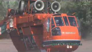 Download Los Angeles Fire Department Sky Crane Tanker Fire Helicopters - La Canada fire 2009 Video