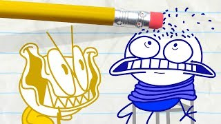 Download Mini Pencilmate Takes His Revenge! -in- SHOCK AND ROLL | Pencilmation Cartoons for Kids Video