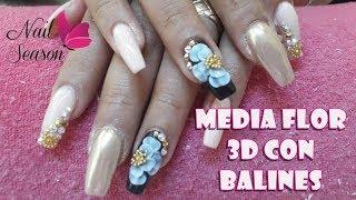 Download Flor 3d con balines uñas de acrilico Video