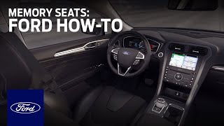 Download How to Set Up Memory Seats | Ford How-To | Ford Video