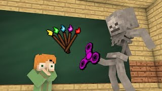 Download Monster School Mobs : Fidget spinner Challenge & Drawing - Minecraft Animation Video