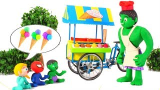 Download SUPERHERO BABIES SHARE ICE CREAMS ❤ SUPERHERO PLAY DOH CARTOONS FOR KIDS Video