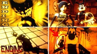 Download Bendy and the Ink Machine ALL ENDINGS (CHAPTER 1-4) Video