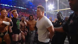 Download Arrests are made during the chaotic aftermath of the WWE Triple Threat Match: Hell in a Cell 2011 Video