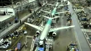 Download Incredible time lapse video of Boeing 737 construction Video