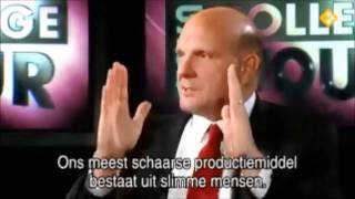Download Microsoft vs Apple - Steve Ballmer interview Video