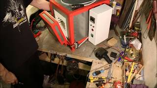 Download Handmade electric Heat Treating Oven for Knives - Pec na kalení nožů Video