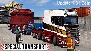Download ETS2 Special Transport 🚚 New Scania 8x4 I Update 1.31 Beta 🔴 #668 LIVE-Tour [Deutsch/HD] Video