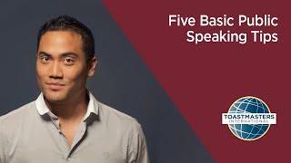 Download Five Basic Public Speaking Tips Video