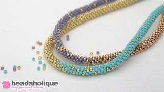 Download How to Make the Long Beaded Kumihimo Necklace Kit (Abridged Version) Video