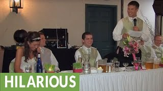 Download Brother of the bride delivers hilarious wedding toast Video