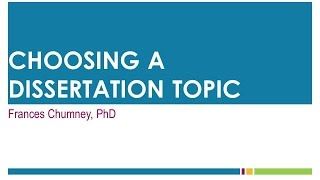 Download Choosing A Dissertation Topic Video