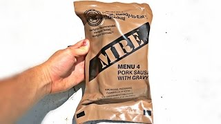 Download Testing US Military MRE (Meal Ready to Eat) Video
