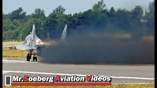 Download SMOKY Mig29 + Su22 Polish AF; DEPARTURE at Geilenkirchen; 35 Year NATO-AWACS Video