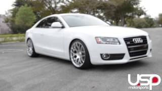 Download Audi A5 Transformation - Avant Garde M310 Wheels - H&R Sport Springs Video