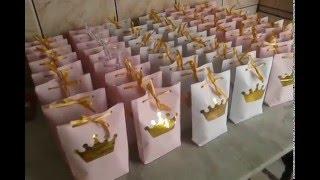 Download Preparativos festa Coroa de Princesa #Hávilafaz6 (sacolinhas) Video