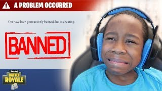 Download Kid gets BANNED from Fortnite..**PRANK!** (Funny Fortnite Trolling) Video