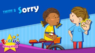 Download Theme 8. Sorry - Watch out! Are you okay? | ESL Song & Story - Learning English for Kids Video