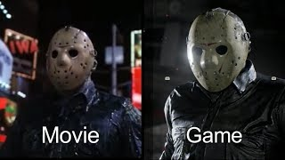 Download Friday the 13th Movie Vs Game Comparisons Video