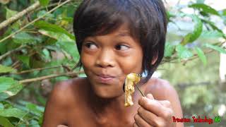 Download Primitive Technology - Eating delicious - Find and cooking Snail #103 Video