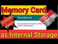 Download Using SD card as internal storage : Easy Steps, no root needed. Video