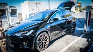 Download Tesla Model X P90D Supercharge Road Trip To Las Vegas Video