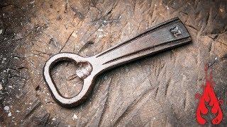 Download Blacksmithing - Forging a bottle opener Video